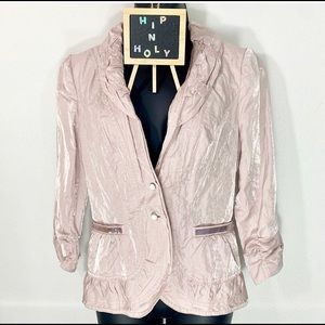 CHICO'S SHIMMER JACKET DUSTY PINK SIZE 00